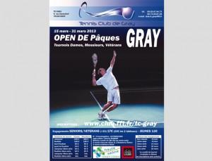 Affiche de tournoi de tennis