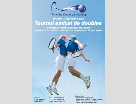 Affiche du tournoi de doubles Gray 2013