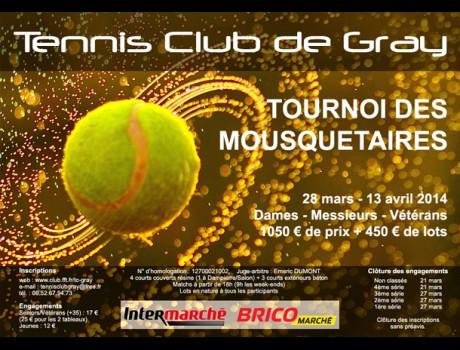 Affiche du tournoi des Mousquetaires 2014
