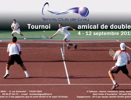 Affiche du tournoi de doubles Gray 2015