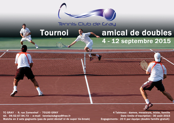 Affiche d'un tournoi de tennis